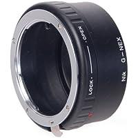 Leinox AD-S12A Bague d'adaptation pour objectifs Nikon G sur boîtier Sony NEX + Lentille de correction Noir