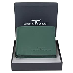 URBAN FOREST Kevin Men's Leather Wallet (Green)