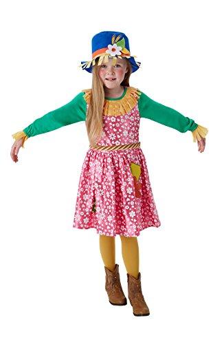 Frau Vogelscheuche - Kinder Kostüm - Groß - 128cm - Alter (Vogelscheuche Kostüme Baby)
