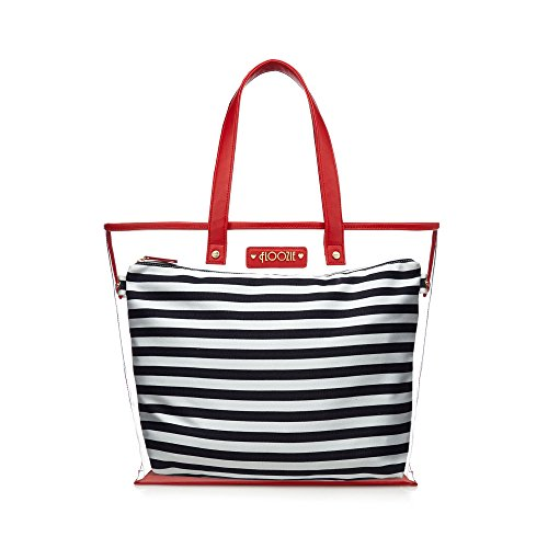 floozie-by-frost-french-womens-navy-striped-print-tote-bag