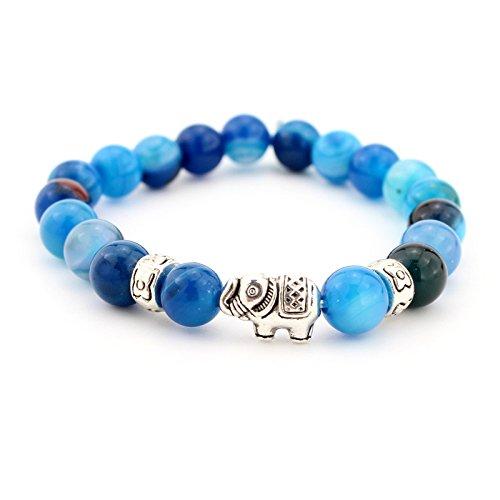 JEWH® Pulseras de Piedra Natural de Buda para Mujeres y Hombres, joyería...