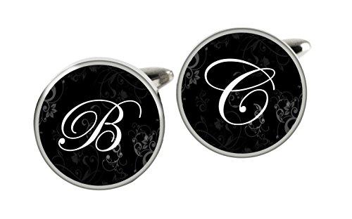 personalisierbar Edelstahl Custom Initialen Manschettenknöpfe 20mm perfekte Geschenk für Hochzeiten Vater 's Day oder Party handgefertigt von tizi Schmuck (Packer Zippo)