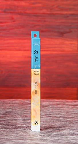 Feinste Kräuter (Räucherstäbchen Japan feinste Düfte Hakuun 1 St. ca. 20g | Edler Duft Raumduft Räucherwerk | Aromatherapie naturreine Kräuter Meditation | Esoterik)