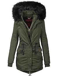 72dcf01156c0 Marikoo Damen Designer Winter Jacke warme Winterjacke Parka Mantel B390
