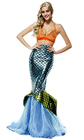 Mermaid Costume - Smile YKK Femme Déguisement Princesse de Sirène