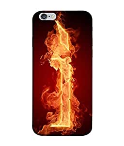 PrintVisa I Letter On Fire 3D Hard Polycarbonate Designer Back Case Cover for Apple iPhone 6s Plus :: Apple iPhone 6s+