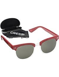 Cressi Swim Erwachsene Vento Sunglasses Sonnenbrille, Schwarz/Linsen Grau, One Size