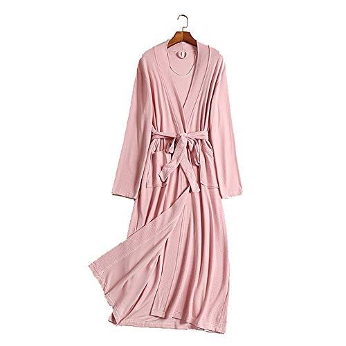 Mmllse Lange Modale Nachthemd Frühling Und Herbst Große Größe Schwangere Frauen Schlafanzug Frauen Lose Bademantel M Rosa