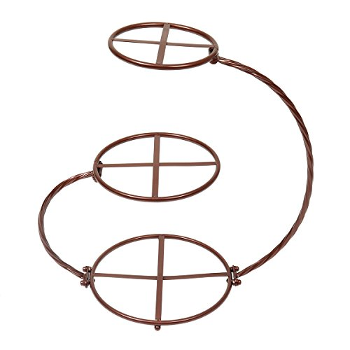 Etagere in G-Form, verchromt, 3 Etagen, für europäische Hochzeitstorten / Kuchen / Dessert / Obst bronze