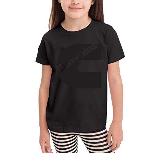 Kinder Jungen Mädchen Shirts Cummins T Shirt Kurzarm T-Shirt Für Tollder Jungen Mädchen Baumwolle Sommer Kleidung Schwarz 3 T -