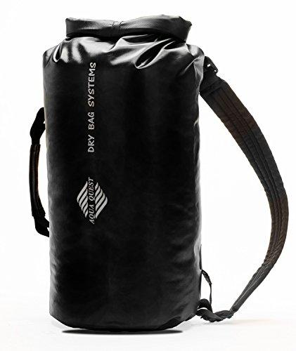20L Wasserdichter Rucksack Trockentasche - Aqua Quest Mariner 20 - Kajak und Boot Tasche mit Rollverschluss, Verstellbar für Männer & Frauen - 20 L - Gelb oder Schwarz Schwarz