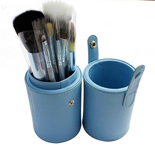NiSeng 12 Pcs Pinceaux Professionneles de maquillage Cosmetics Maquillage avec Cup Holder Case Bleu