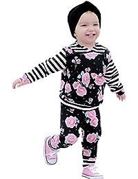K-youth Conjuntos Bebé Niña Regalo de Reyes 6 Meses a 4 Años Originales  Ropa Bebé Recién Nacido Niña Niño Otoño Invierno Camiseta de Manga… cb314c250b163