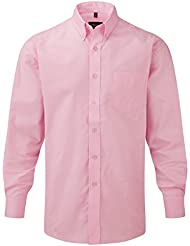 Russell collection ! facile oxford chemise à manches longues en matelas grande taille