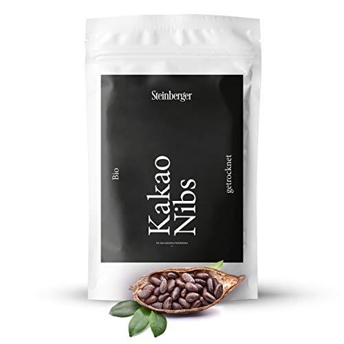 Premium BIO Kakaonibs roh von Steinberger | Kakao nibs aus peruanischen Kakaobohnen I 1000 g im wiederverschließbaren Aromapack
