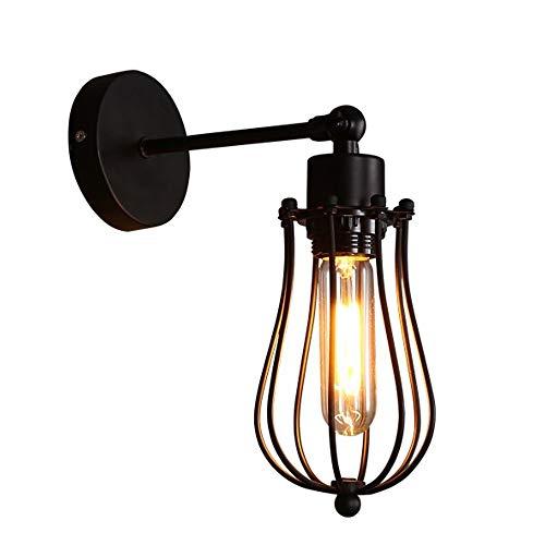 QIYUE Wandleuchte Industrieöl Oberfläche Bronze Wandleuchte Lampenschirm Lampe Retro-Stil Mini Antik Außenleuchte geeignet für Garagentor Veranda Wandleuchte -