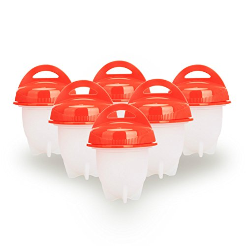 Silikon Eierkocher Boiler Hart Kochen Egg Container Form ohne Muscheln Ei Eiko, 6pcs/set