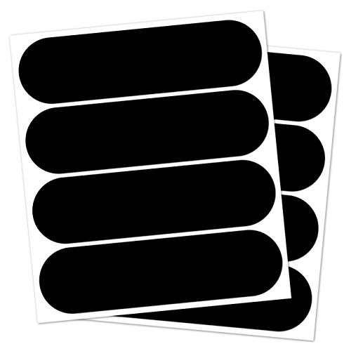 B REFLECTIVE, (paquete de 2) Kit de 4 pegatinas retro reflectantes, Seguridad y alta visibilidad di noche, Adhesivo para Casco de Moto / Motocicleta / Bicicleta / Cochecito / Juguetes, 8,5 x 2,3 cm, Negro