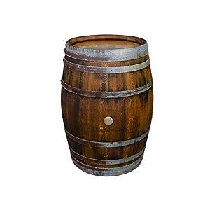 Temesso Stehtisch Tisch aus Holzfass, Gartentisch Weinfass, Fass, Barrique Tisch aus Eiche Holz rustikal 225 Liter (rustikal geölt)