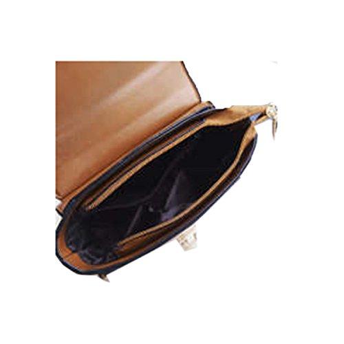 WU Zhi Primavera Signora Piccola Borsa Quadrata Spalla Messenger Bag Brown