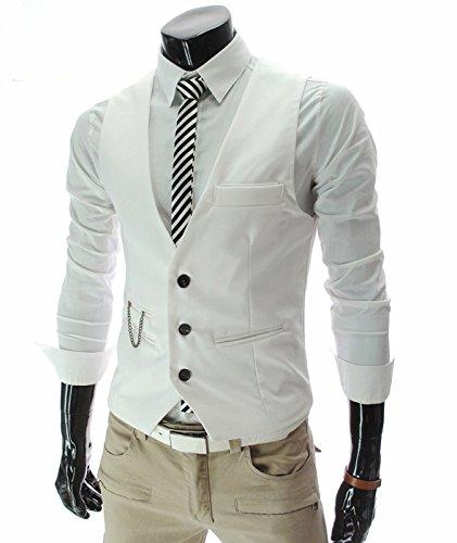 sschnitt Sleeveless Button-Down-Anzug Weste Weste (Karierten Anzug)