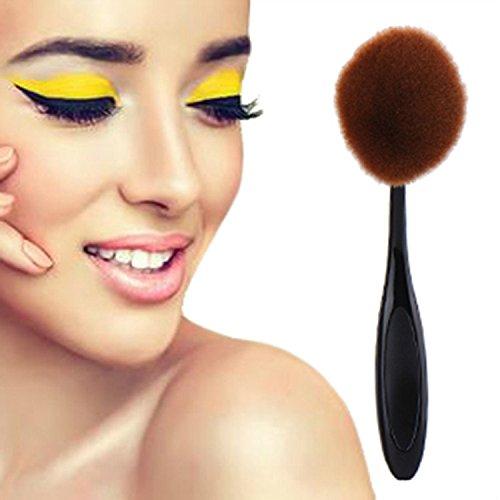Naturel Maquillage Big Oval Brosse à dents Style Pinceau de maquillage Fond de teint poudre libre contour liquide Brosse