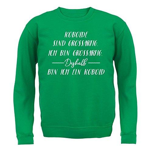 Ich Bin Grossartig - Kobold - Kinder Pullover/Sweatshirt - Grün - S (3-4 Jahre)