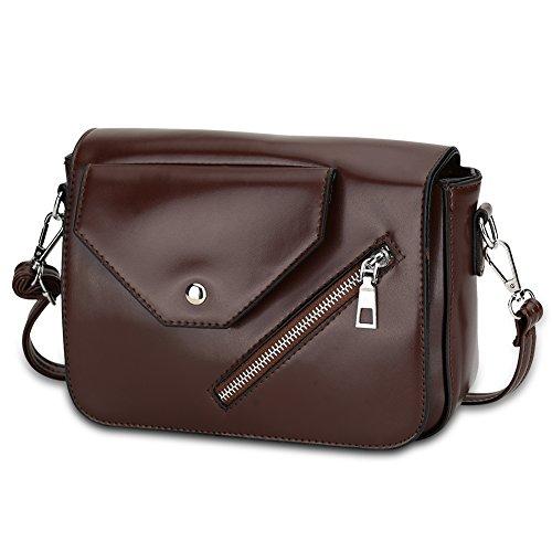 Faysting EU donna borsa a tracolla borsa a spalla pelle materiale clamshell con cerniera buon regalo san valentino D