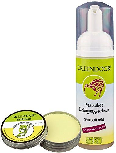 Greendoor Anti-Pickel-Set Basic - Anti Pickel Balsam plus basischer Reinigungsschaum, reduziert Pickel, beugt Neubildung vor, Naturkosmetik natürlich ohne Tierversuche -