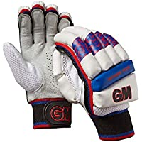 Gunn & Moore - Guantes de bateo para niños, Infantil, Color White/Silver/Black/Red/Blue, tamaño Small Junior LH