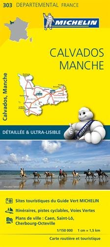 Carte Calvados, Manche Michelin