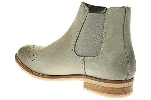 Post Xchange MAY11 - Damen Schuhe Stiefelette Chelsea Boots Hellgrau