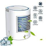 Anbber Condizionatore Portatile 4-in-1 Mini Raffrescatore Evaporativo Umidificatore Purificatore d'Aria USB Climatizzatore con Raffreddamento ad Acqua per Casa/Ufficio/Camper/Garage