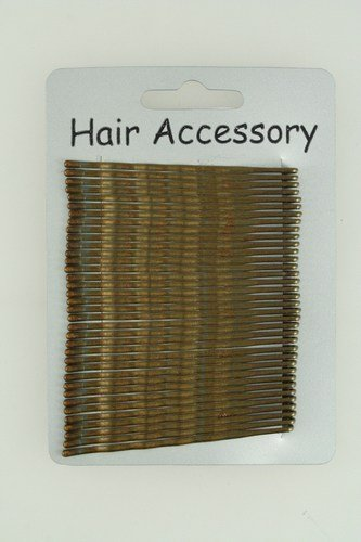 30 Brown Kirby Hair Grips IN8456 by TWILO DESIGN