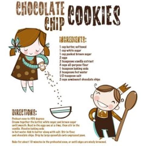 Feel Good Art Box grueso lienzo receta galleta de chocolate (A1)