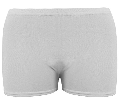 Mädchen Microfiber Hot Pants Kurze Hose Tanzen Fitness-Studio Stretch Shorts Alter 5-12 (Shorts Spandex-hot)