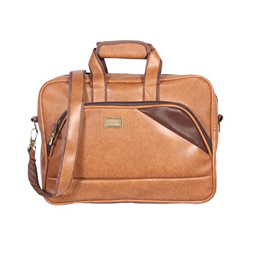 Handcuffs Rust Colour Leather Office Laptop Bag For Men Messenger Bag 16 Inch