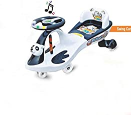 Golden Traders Baby Wheel Magic Toy Car with Backrest (Black and White)