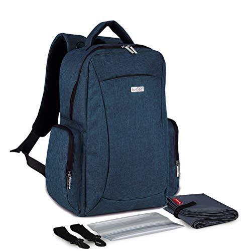Preisvergleich Produktbild LVLUOYE Windelwechsel Rucksack Multifunktions Mammavati Reiserucksack Babypflege-Cyan