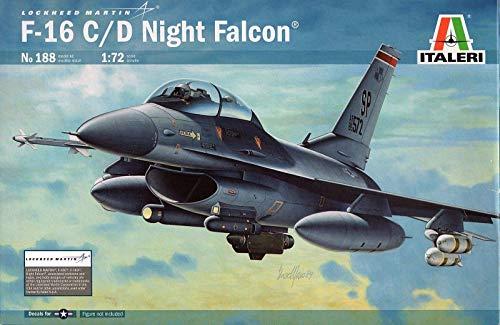 Italeri 0188 - f-16 c/d night falcon model kit  scala 1:72