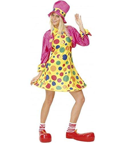 Disfraz de Payasa Aro Rosa para mujer M-L