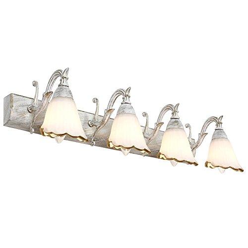 NOHOPE E14 antike Blumen Brille Glas Lampenschirm Mirror hell hintergrund Lampe Hotel Mall Cafe Bett Haus Dekor Mauer Spiegel Licht weiß Wandlampen,25inch