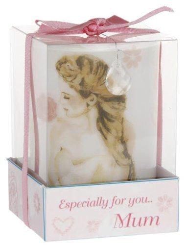 Placa con mensaje para mamá rosa vela en Vintage Lane cristal de Jennifer ziliotto rosa
