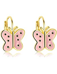 Yellow Chimes Pink Butterfly Clip-On Earrings For Women (Pink) (YCFJER-172BTRFLY-PK)