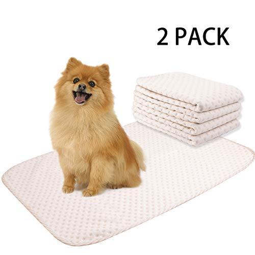 Saugfähigkeit Pads (Yangbaga Waschbare Pee Pads für Hunde, 4 Packungen Wiederverwendbare Welpen-Pads, 50,8 x 71,1 cm, mit überlegener Saugfähigkeit, geruchsfreie Wurfpolster für Inkontinenz, Reisen, 2 PCS Large)