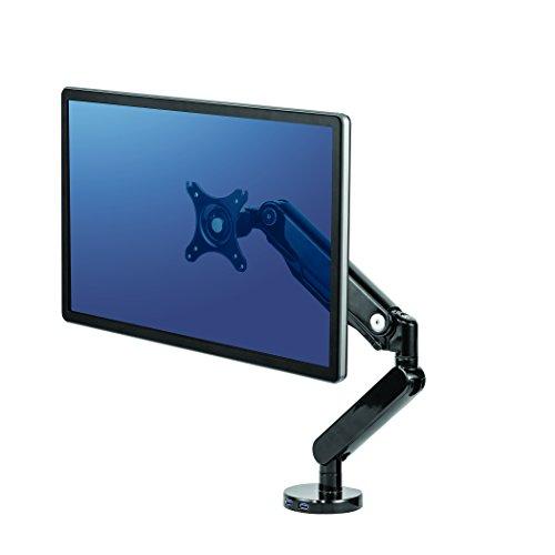 Fellowes 8043301 Platinum Series Gasfeder Einzel Monitorarm, drehbar, schwenkbar, neigbar
