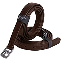 QHP Steigbügelriemen Basic aus Leder mit Edelstahl-Schnallen 3 Größen 2 Farben