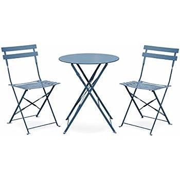 Hespéride Table de Jardin Ronde 60cm Greensboro Bleu Orage ...