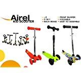 Patinete 3 ruedas PLEGABLE | Entre 2 y 14 años | TWIST & ROLL. AJUSTABLE | RUEDAS LED Sin Pilas | Mini Patinete FreeStyle