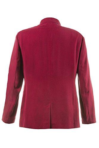 Ulla Popken Femme Grandes tailles Femmes Mode Veste légère de Printemps/ été Slim Fit manches longues tendance Rouge 705791 rouge foncé